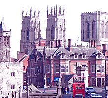 A Red Bus Going To The Minster by AARDVARK