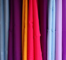 colored fabrics by Giuseppe Moscarda