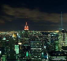 Manhattan At Night by Michael Walton