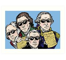 Founding Father Dudes Art Print