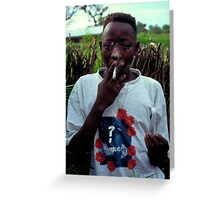 Omar on Ginak Island Greeting Card