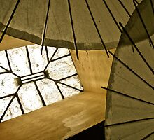 Skylight & Japanese Parasols by Scott Johnson