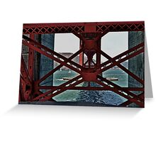 Under The GoldenGate Bridge Looking Toward Marin. Greeting Card