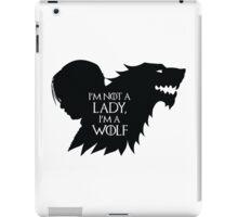 Arya Stark- Im a Wolf (Black) iPad Case/Skin