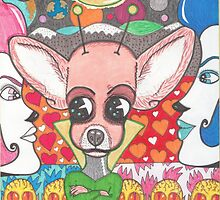 Chihuahua Martian and the Babes of Enon Shores by pieeyes