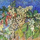 Blossom Chestnuts Branches by Vincent van Gogh. Vintage fine art by naturematters