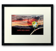 A BRAND NEW YEAR IS BORN!!! - NZ  Framed Print