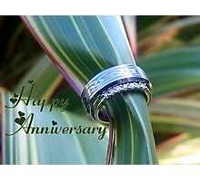 Happy Anniversary - WEDDING - NZ Photographic Print