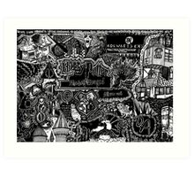 The Great Wizarding World of Harry Potter Art Print