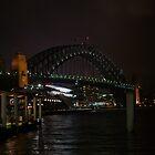 Sydney Harbour Bridge at night by Ande Reid