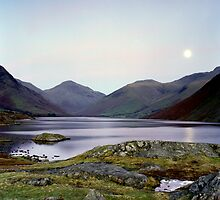 Moon rising over Wast Water by John Kiely