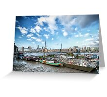 Thames Houseboats Greeting Card