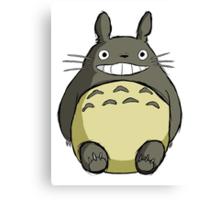 Totoro (shaded) Canvas Print