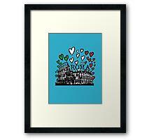Roma flying hearts Framed Print