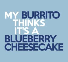 My burrito thinks it's a blueberry cheesecake by onebaretree