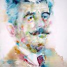 WILLIAM FAULKNER - watercolor portrait by lautir