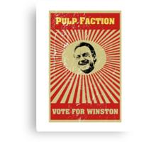 Pulp Faction - Winston Canvas Print