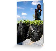 Jamaican Ganja Fields Greeting Card