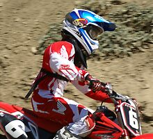 "Motocross Rider AJ Hedger - Determined ""Red Honda Rider"" Working hard towards Loretta Lynns ""SPONSOR ME"" Photo"" by leih2008"