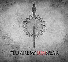 Game of Thrones Valentines: You are my Sunspear by Alice Edwards