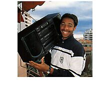 Thierry Henry With A Ghetto Blaster Photographic Print