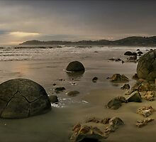 The Light Is Sampling Its New Palette At The Cyclope's Favourite Pétanque Beach by Peter Kurdulija