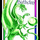 Dragon Happy Birthday Card by dimarie