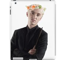 draco with flower crown iPad Case/Skin
