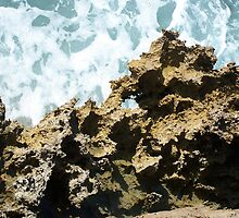Jagged Rock Over Froth and Bubble by Craig Watson