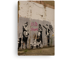 Old Skool - Banksy Canvas Print