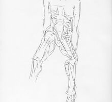 Sketch of Nude Man by Dennis Knecht