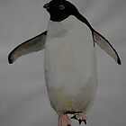 Penguin in Goache by ApeArt