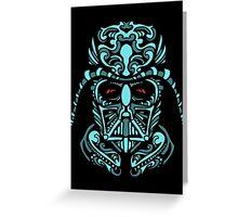 Darth Vader Blue Greeting Card