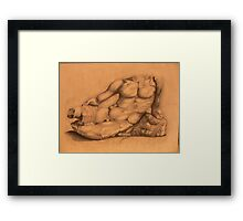 Drawing of Hercules Bust-Louvre Framed Print