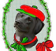 Black Lab Christmas by IowaArtist