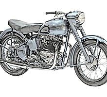 1951 Triumph Thunderbird Motorcycle by surgedesigns