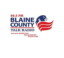 Blaine County Talk Radio Photographic Print