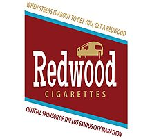 Redwood Cigarettes Photographic Print