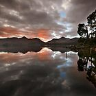 Sunset behind Catbells and Maiden Moor, Derwentwater English Lake District by Martin Lawrence