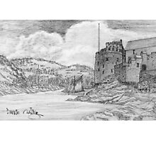 My pencil drawing of Dartmouth Castle, Devon - all products bar duvet Photographic Print