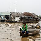Boy at the Floating Village, Cambodia by Leigh Penfold