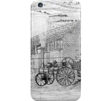 My pencil drawing of Steam Threshing in Yorkshire - all products bar duvet iPhone Case/Skin