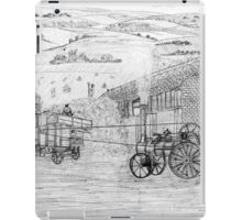 My pencil drawing of Steam Threshing in Yorkshire - all products bar duvet iPad Case/Skin