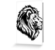 King of the Pride BLK Greeting Card