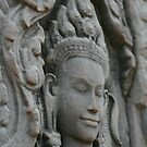 Lady in Stone at Bayon Temple, Cambodia by Leigh Penfold
