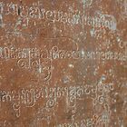 Inscription in Temple Walls, Cambodia by Leigh Penfold