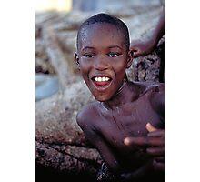 boy on the beach Photographic Print