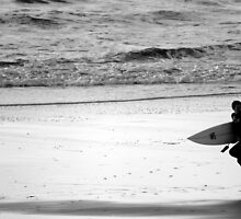 Surfer, Praa Sands, South Cornwall UK by Greig  Cowie