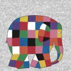 Elmer the Elephant- Small by carrieclarke