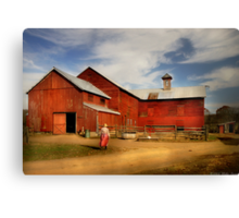 Going back to the farm Canvas Print